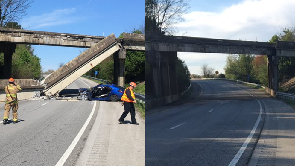 Roadway reopens after I-75 overpass barrier falls onto road