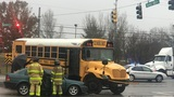 School bus involved in accident