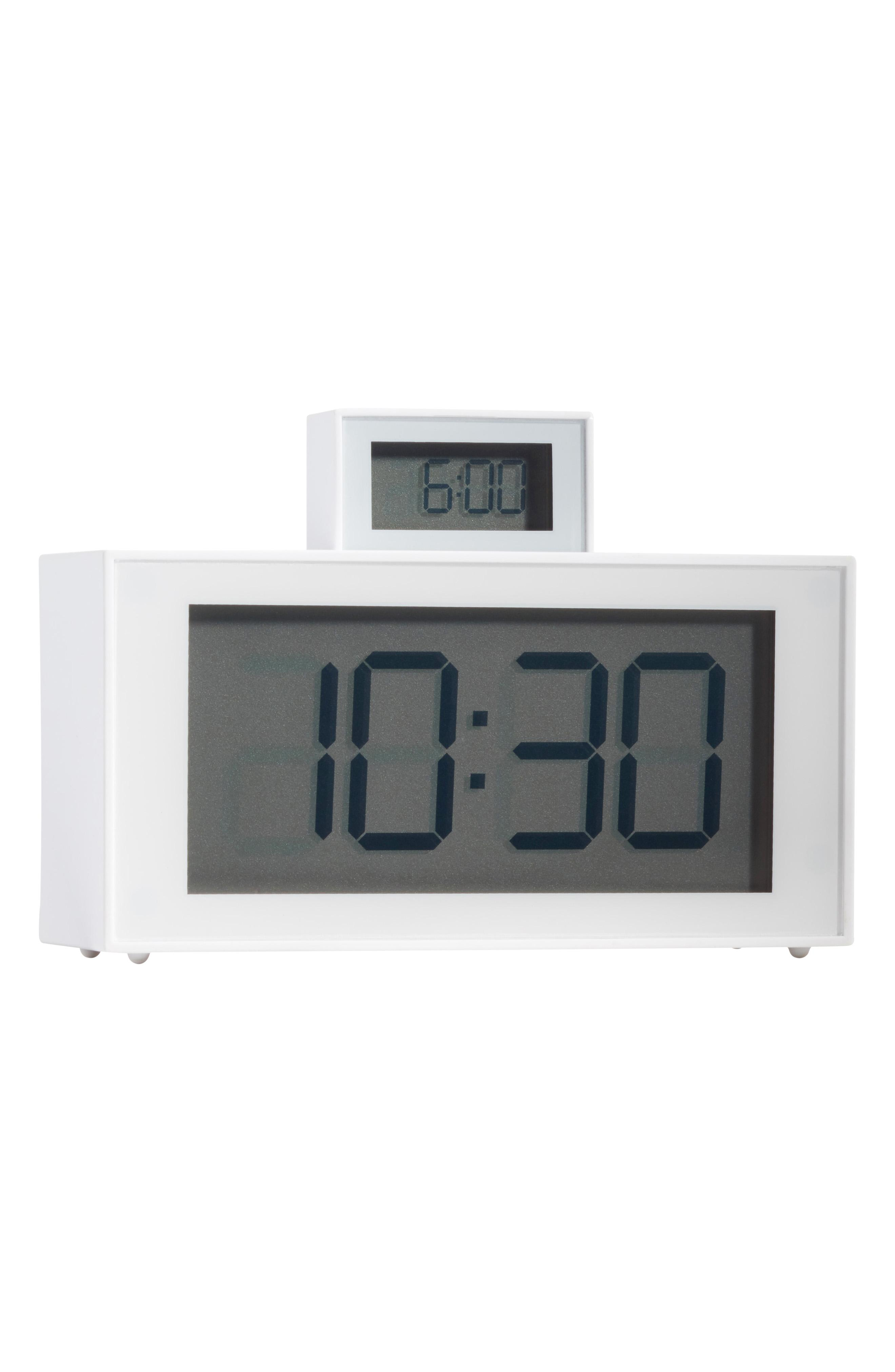 "LEXON INOUT LCD CLOCK WITH POP UP ($44.95). Nordstrom just launched their Pop-In@Nordstrom called ""GET'S WIRED"" with more than 125 tech products both in store and online. The selection has everything from underwater drones, 3D printers, wireless ear buds, Polaroid cameras, and more. (Image courtesy of Nordstrom)"