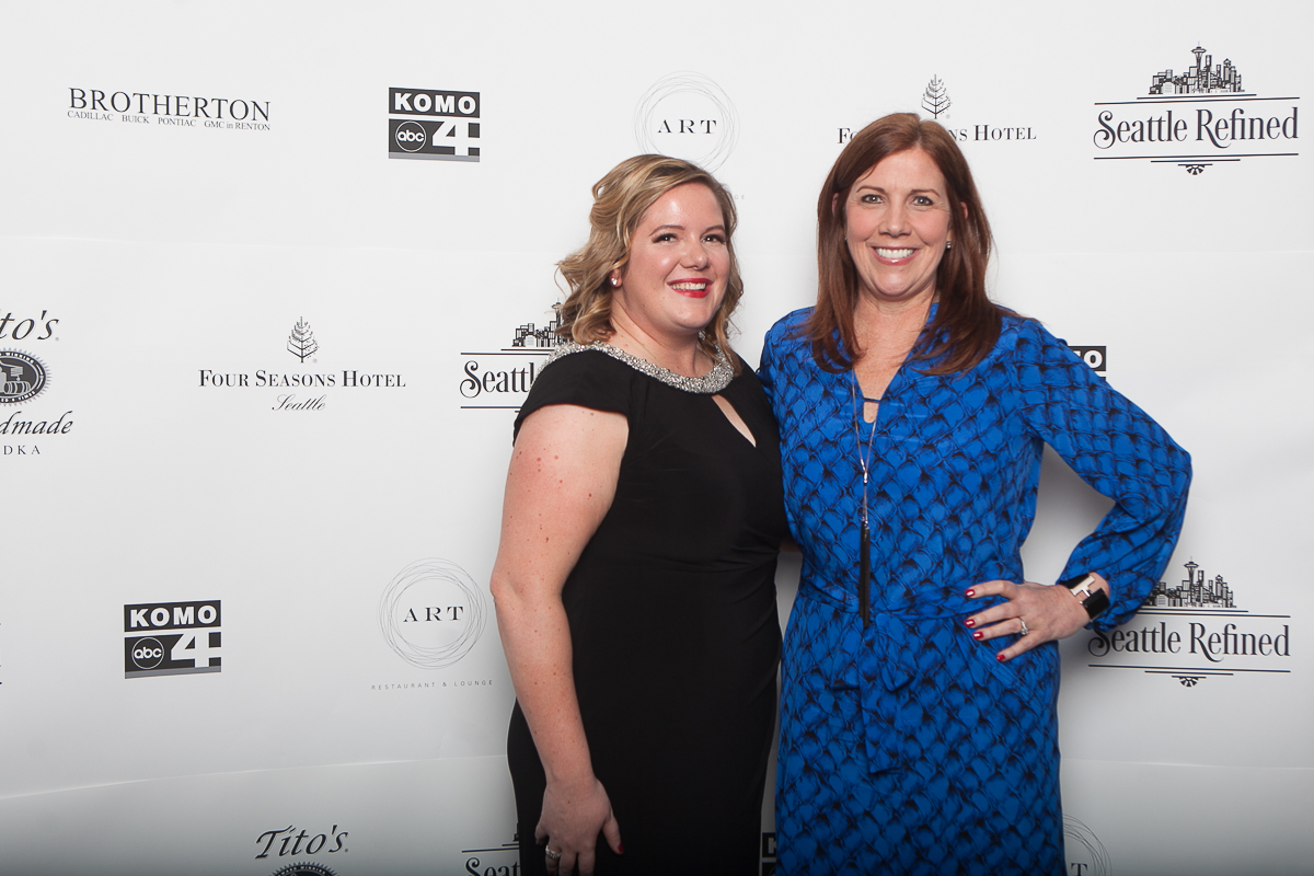 Editor-In-Chief Kristi Waite and Beverly Magee celebrate at the Seattle Refined launch party at the Four Seasons. (Image: Joshua Lewis / Seattle Refined)