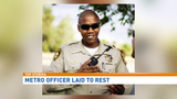 Las Vegas area residents gather for officer's funeral procession