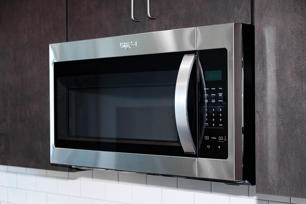 Kitchens in 1010 are outfitted with Whirlpool appliances. / Image: Phil Armstrong // Published: 9.2.19