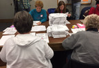Ballots from the Nov. 8, 2016 election are recounted in Outagamie County, Dec. 1, 2016.