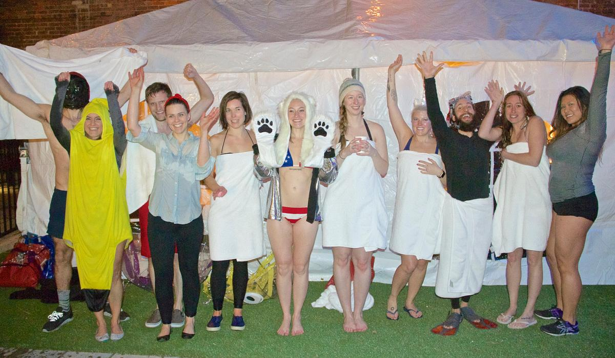Hotel Covington hosted its own Polar Bear Plunge party on Saturday, Jan. 28, with a portion of proceeds from the $10 jump fee going on to benefit the Cedar Hill Animal Sanctuary. / Image: Dr. Richard Sanders