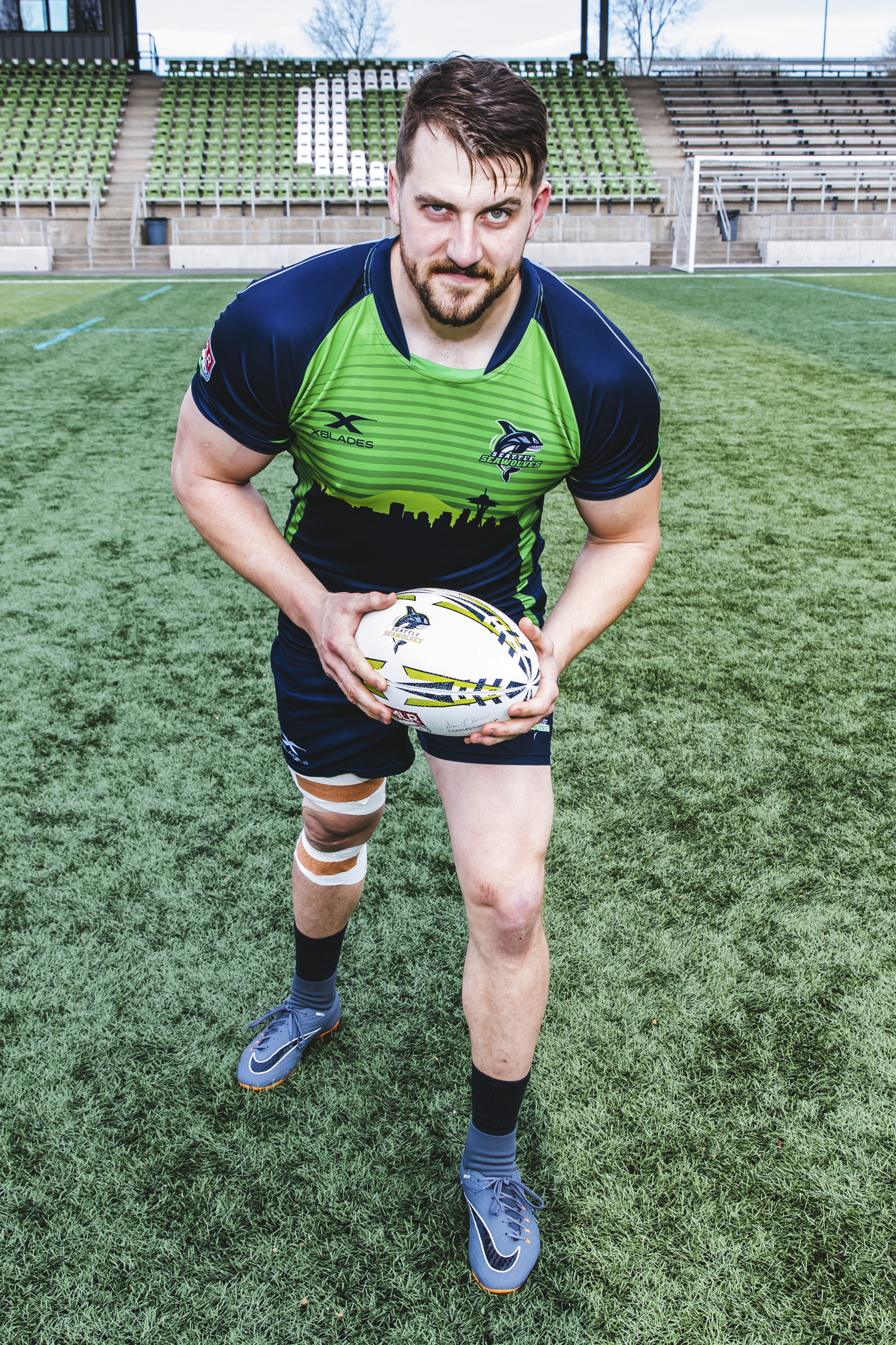 Meet Cam! This handsome man is from London, Ontario. The 29-year-old plays Flanker (although the roster says Lock so maybe he's a Flock? Sorry - bad joke) for the Seattle Seawolves, and his celebrity crush is Gal Gadot. Three cheers for Superwoman. (Image: Sunita Martini / Seattle Refined).