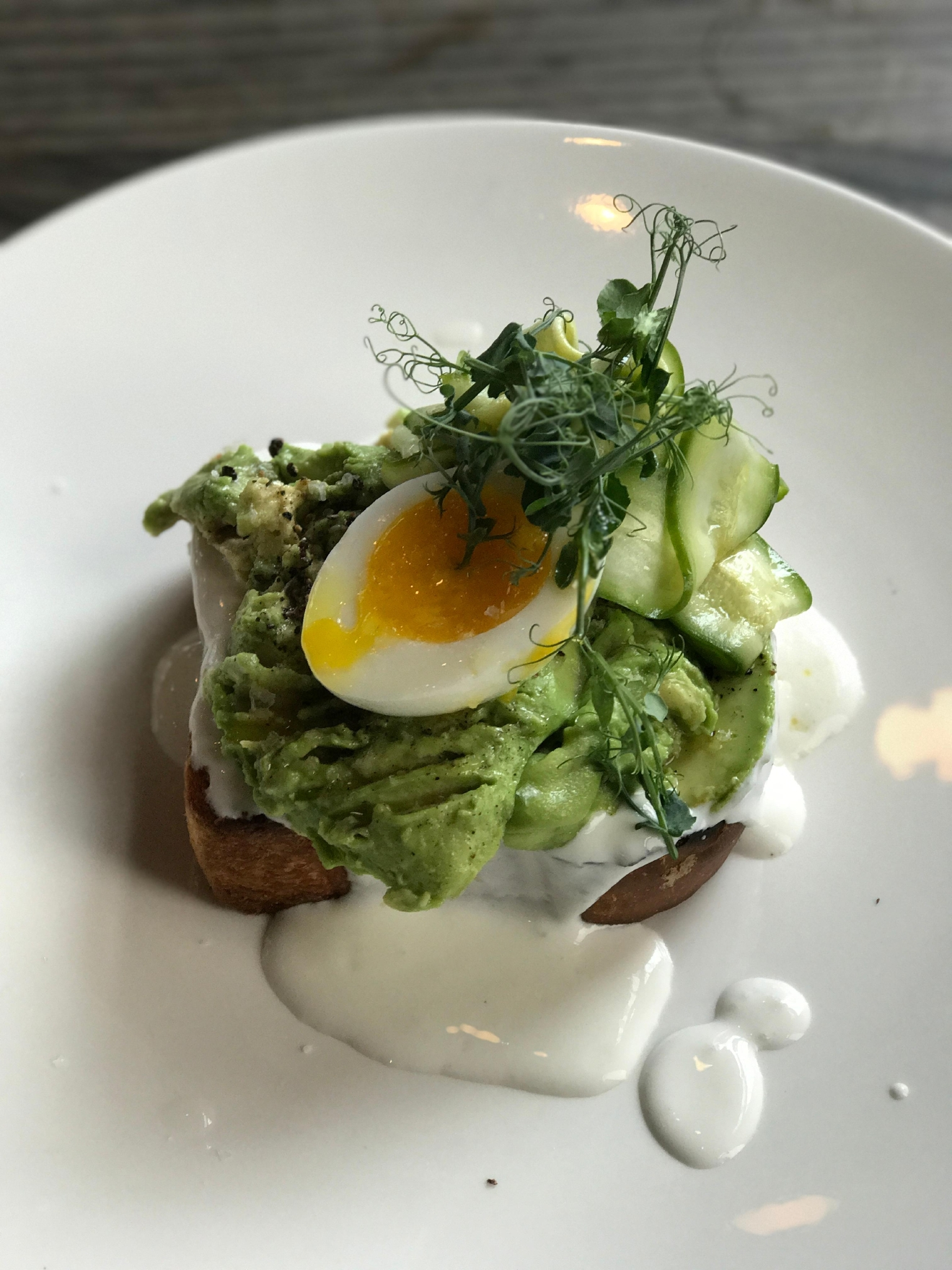 Avocado Toast from the Pearl Tavern, topped with a 6 minute egg.  Super yummy!                                           (Image: Kate Neidigh)