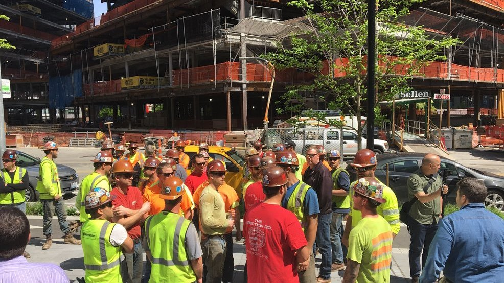 Seattle construction workers shout down Kshama Sawant over 'head tax'