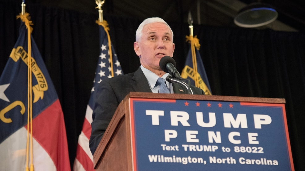 Mike Pence campaigning in New Hampshire