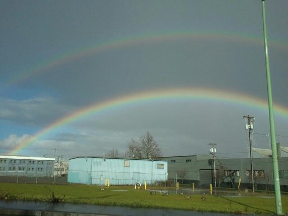 Double rainbow near Portland. (YouNews contributor kennyk)