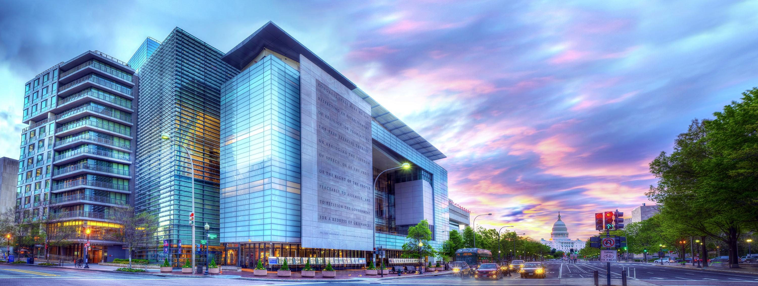 Check out the Newseum! This is a must see D.C. attraction and the perfect way to spend a rainy day. Open Monday through Saturday from 9 a.m. to 5 p.m. and Sunday from 10 a.m. to 5 p.m. TICKETS: Adults, 19 to 64: $24.95;  Seniors, 65 and older: $19.95; Youth, 7 to 18: $14.95 (Photo credit: Maria Bryk//Newseum)