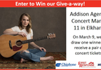 Addison Agen Concert Tickets Contest