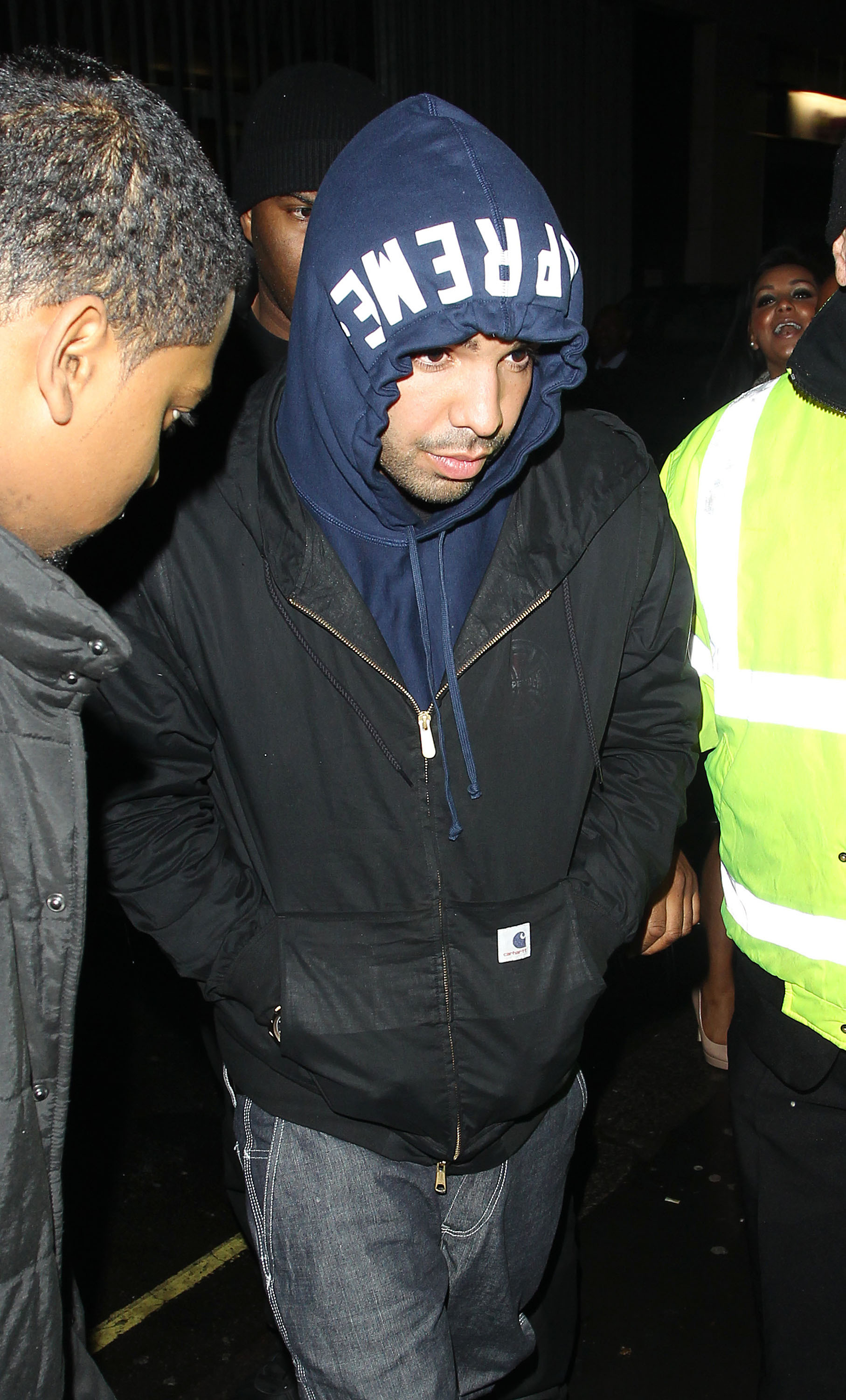 Rapper Drake                  arriving at Chinawhite nightclub                  London, England - 18.04.12                                    Featuring: Rapper Drake                  Where: London, United Kingdom                  When: 18 Apr 2012                  Credit: WENN
