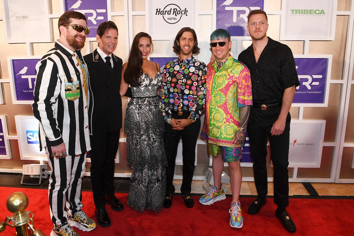 Imagine Dragons appear on the red carpet with Tim and Amy Cantor for the Rise Up Gala, and event created to raise funds for the Tyler Robinson Foundation, Friday, September 6, 2019, at the Wynn. (Sam Morris/Las Vegas News Bureau)