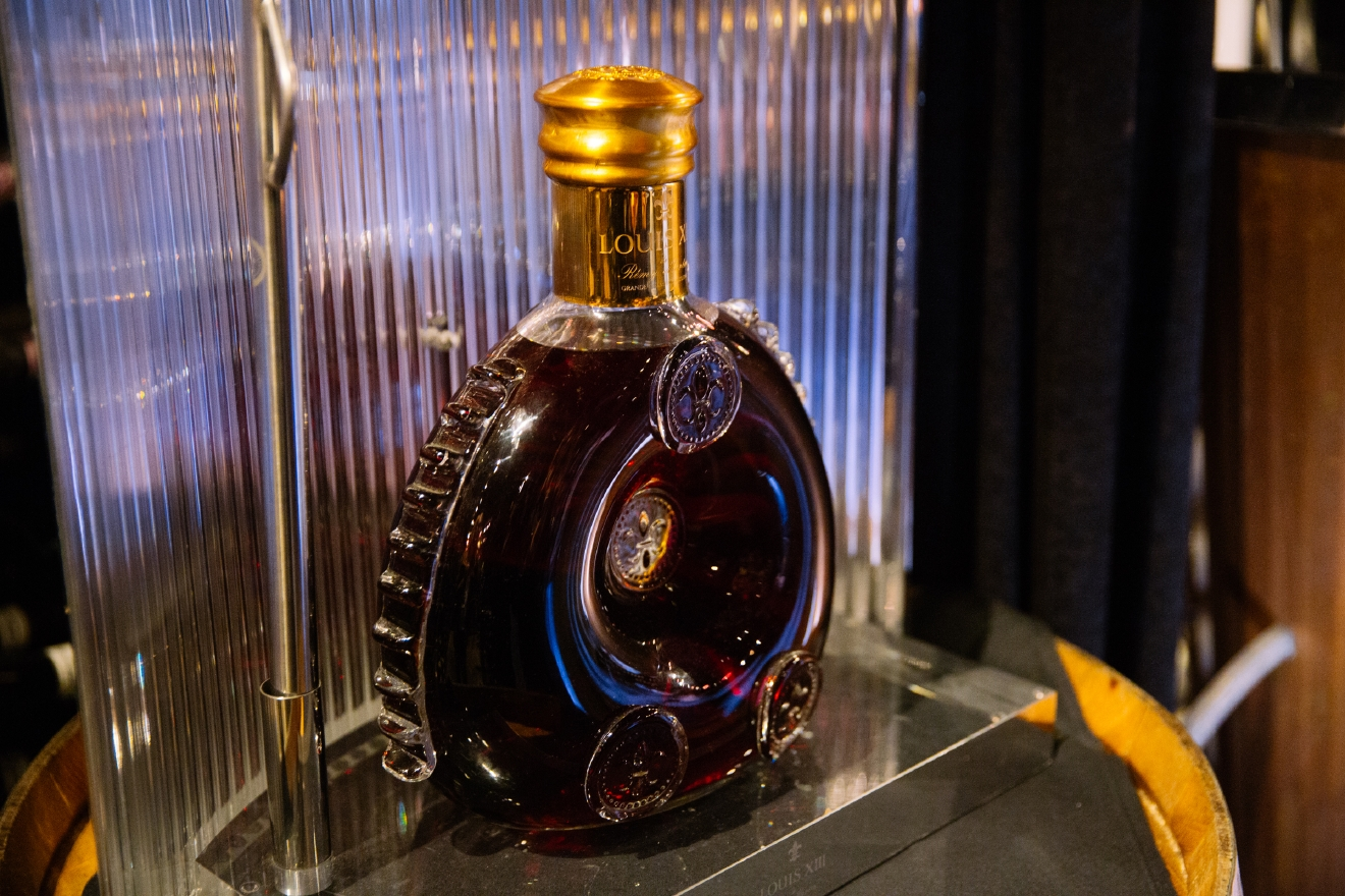 This bottle of cognac, also in the cellar, sells for $60,000. (Image: Joshua Lewis / Seattle Refined)