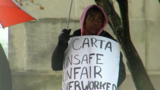 CARTA workers protest in downtown Chattanooga Tuesday