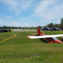 Small plane slides off runway near Plainwell