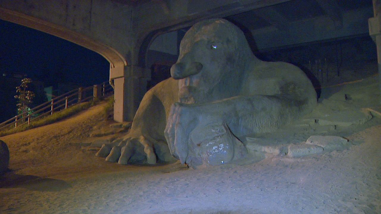 The Fremont Troll. (Photo: KOMO News)