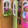 Girl Scouts build playhouse for sick child who can't leave home