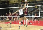 Hastings College volleyball - Katie Placke kill.JPG