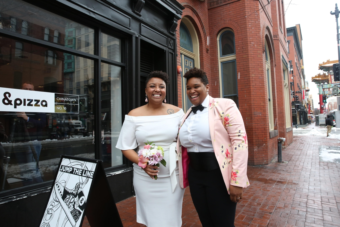 For the third year in a row, couples from around the DMV decided to say their vows at &pizza on March 14 - Pi Day. This year's weddings proved that nothing - including snow and disagreements on whether or not pineapple belongs on pizza - can stop love. (Amanda Andrade-Rhoades/DC Refined)