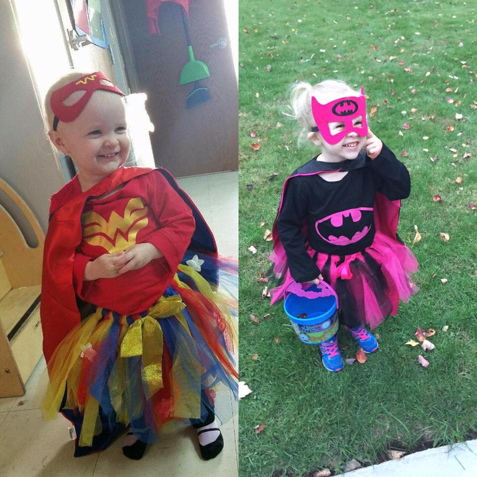 Batgirl and Wondergirl ready to go! Submitted by Megan Collins