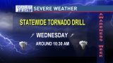 Statewide tornado drill Wednesday morning
