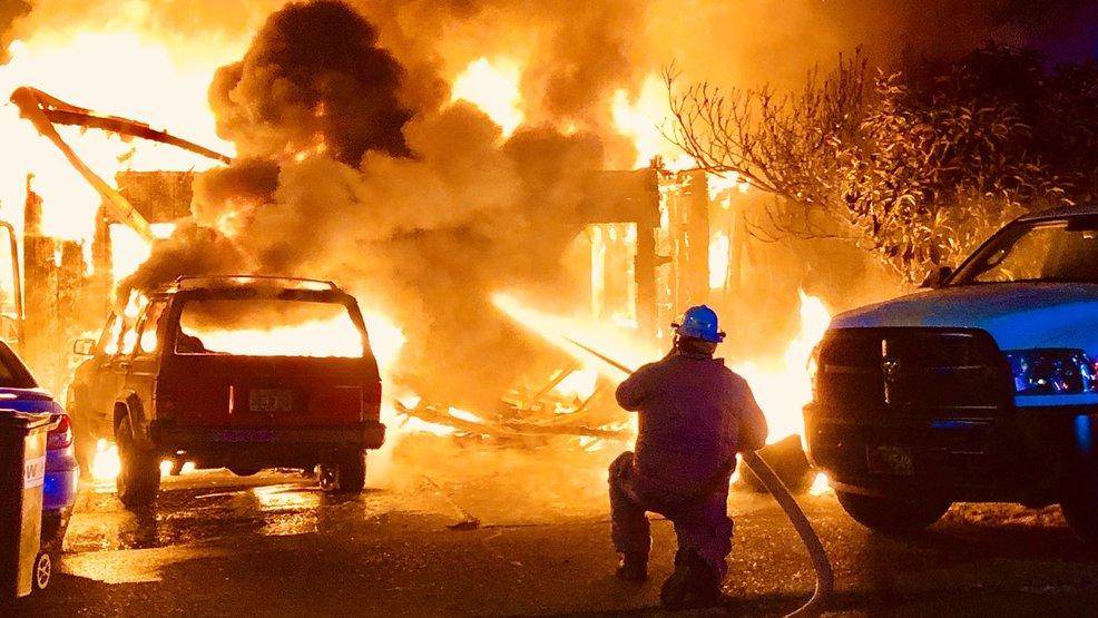 crews battle huge flames at dundee house fire katu