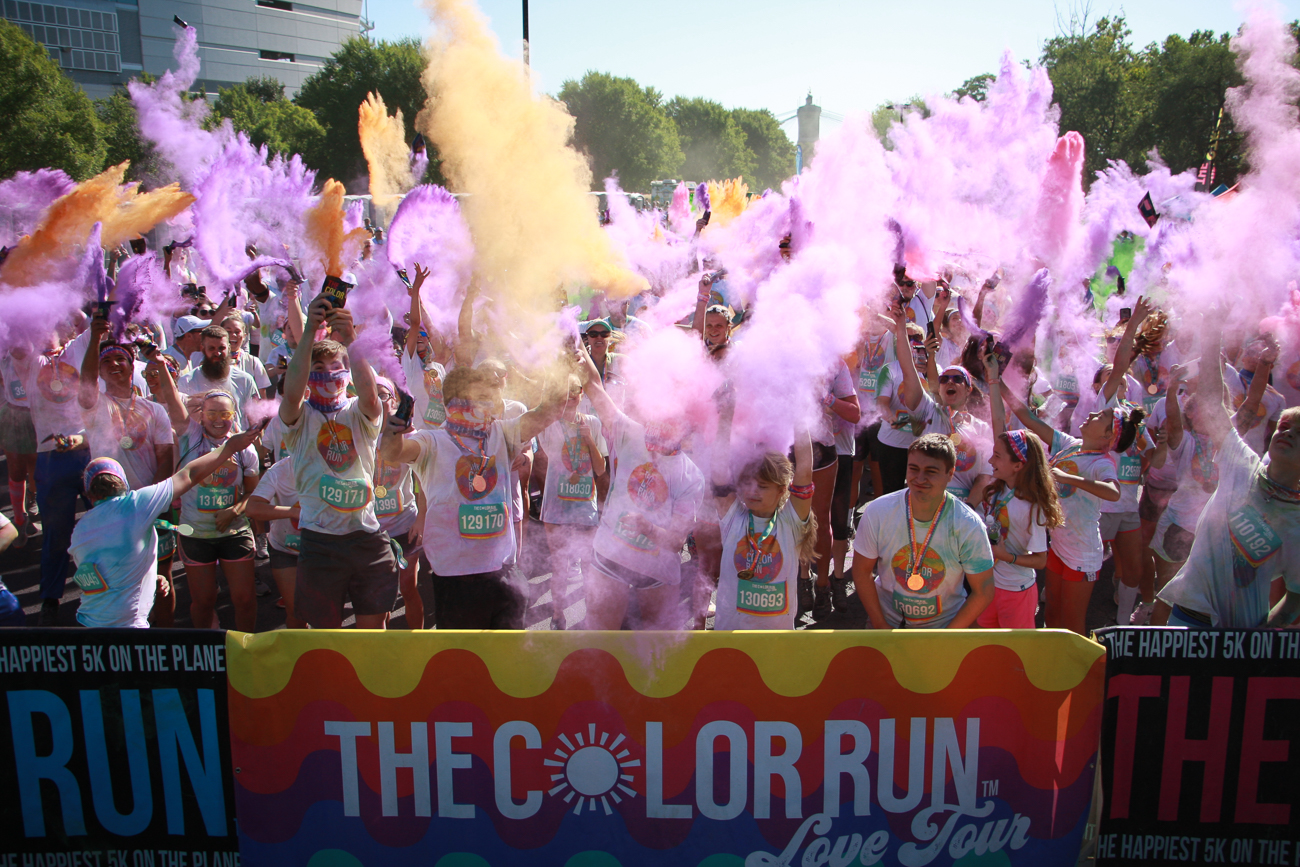 The 2019 Color Run was held on Saturday, August 24 on the riverfront. Thousands participated in the untimed 5K that features an explosion of celebratory, colorful dust after crossing the finish line. The race is held annually in Cincinnati and around the country. / Image: Lacey Keith // Published: 8.29.19
