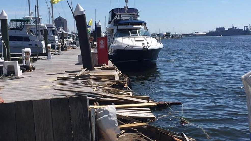 Passenger ship collides into pier in fells point wbff - Royal caribbean cruise countdown clock for desktop ...