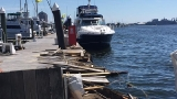 Ship with more than 400 people on board collides into pier in Fells Point