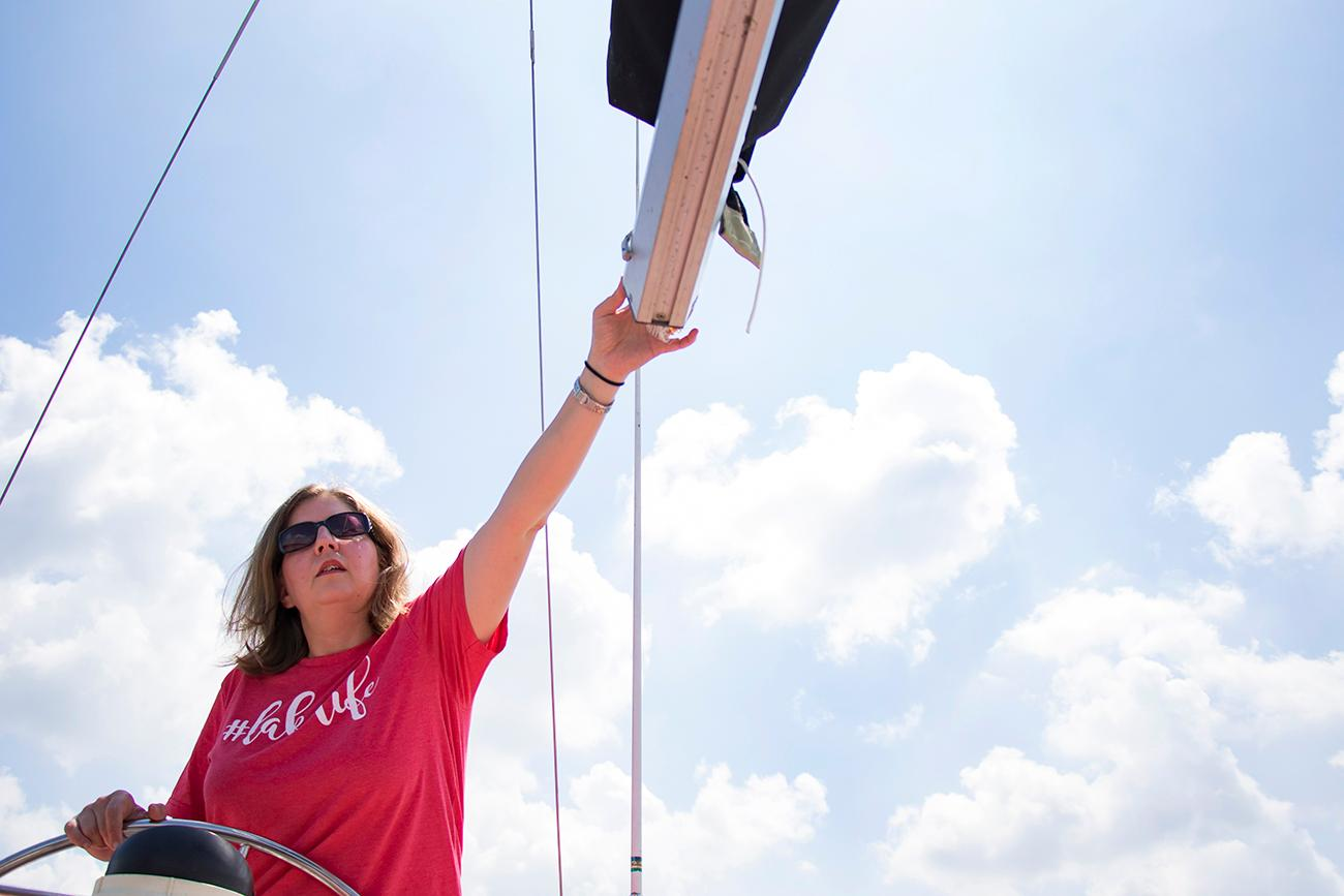 <p>Nicole Holkamp, member of the Brookville Sailing Association / Image: Allison McAdams // Published: 6.12.18</p>