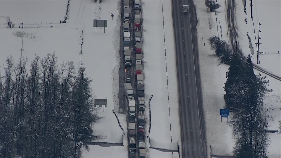 Epic Gridlock: Winter storm creates 115-mile backup along snow-clogged I-5 in Oregon