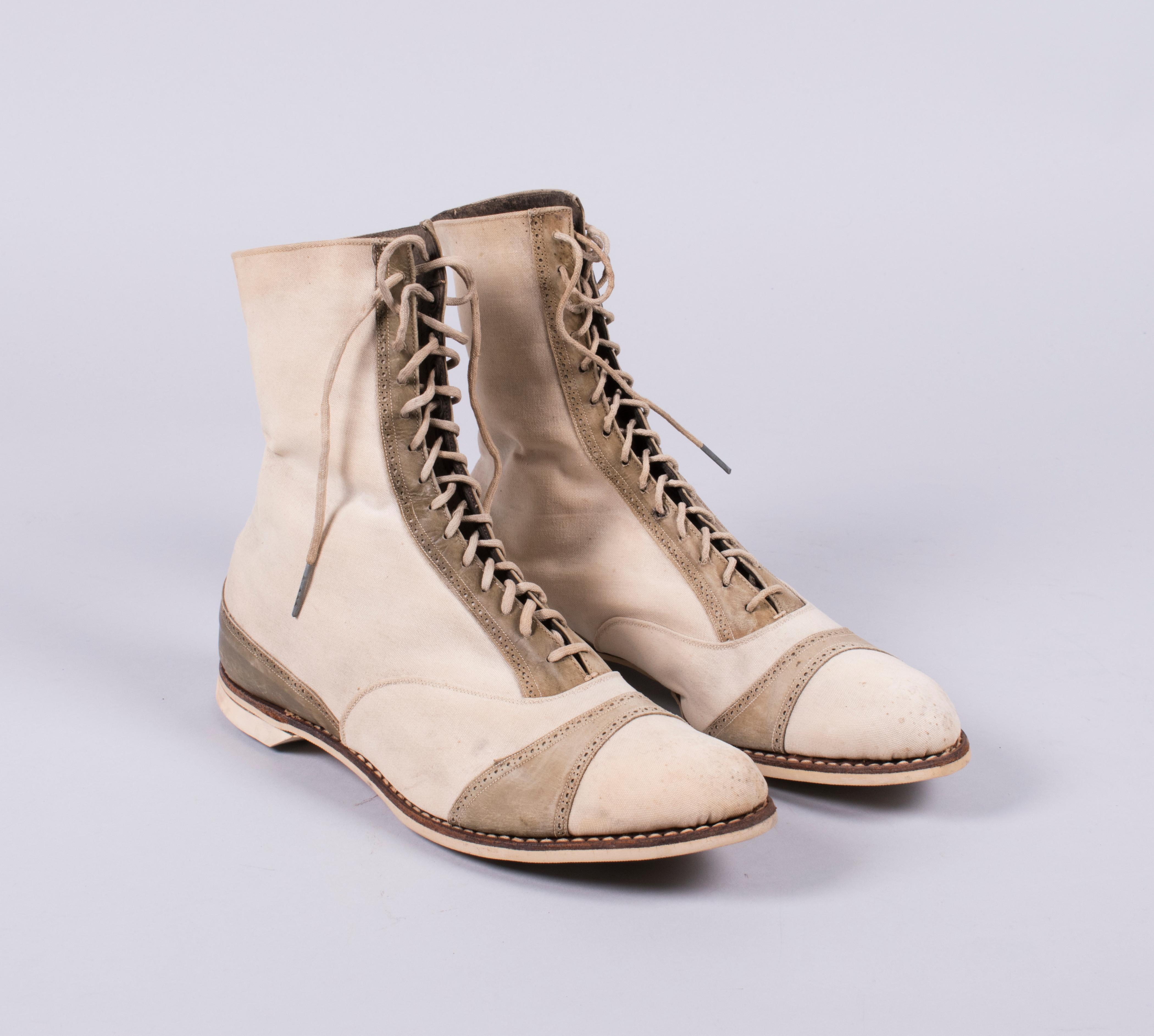 Canas sport boot 1910s. Loan courtesy of Nordstrom Archives.{ }