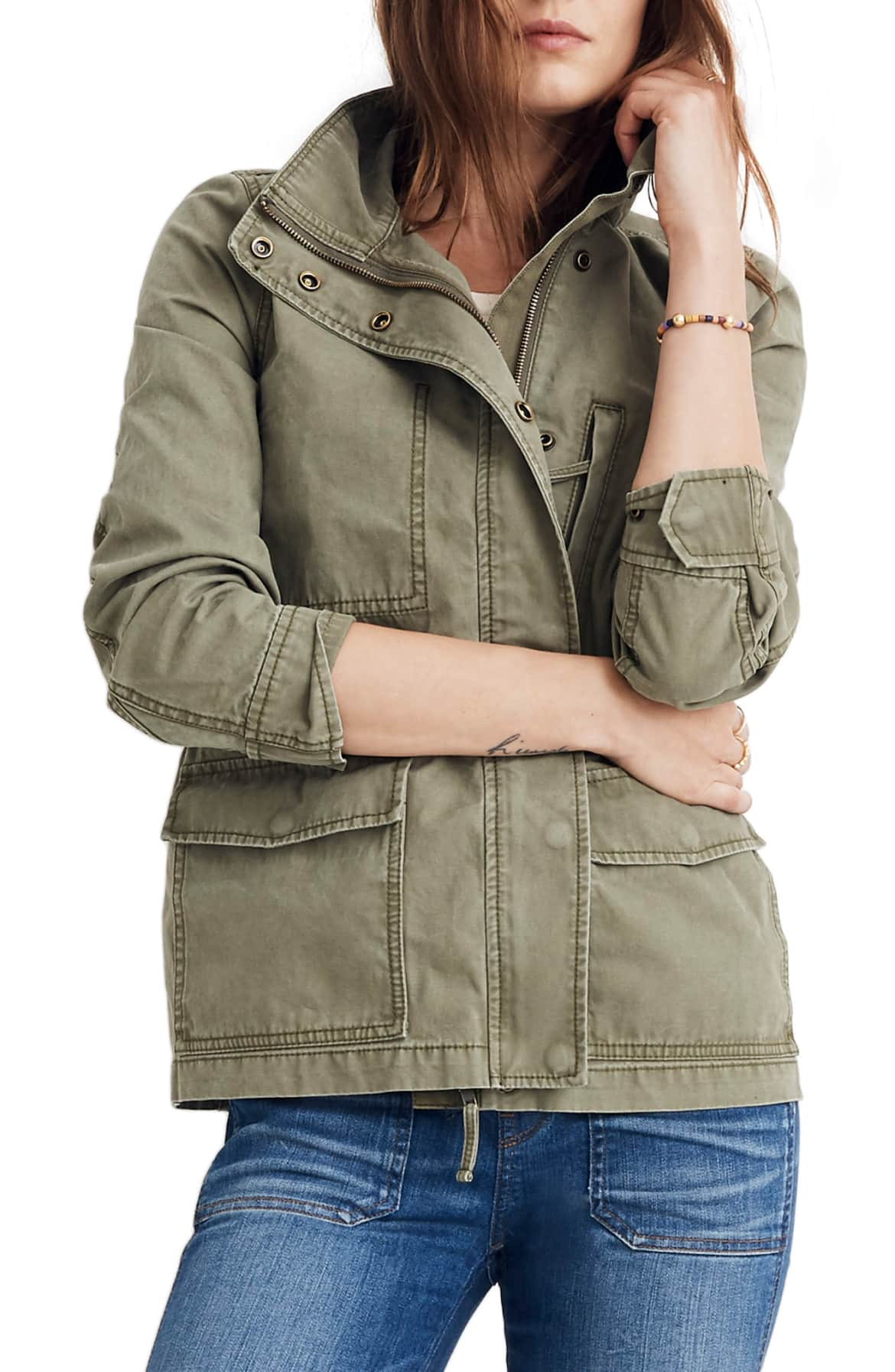 Utilitarian style shows its softer side in a modern version of the surplus jacket that's outfitted with plenty of pockets and neatly cinched at the waist. $118 (Image: Nordstrom){ }
