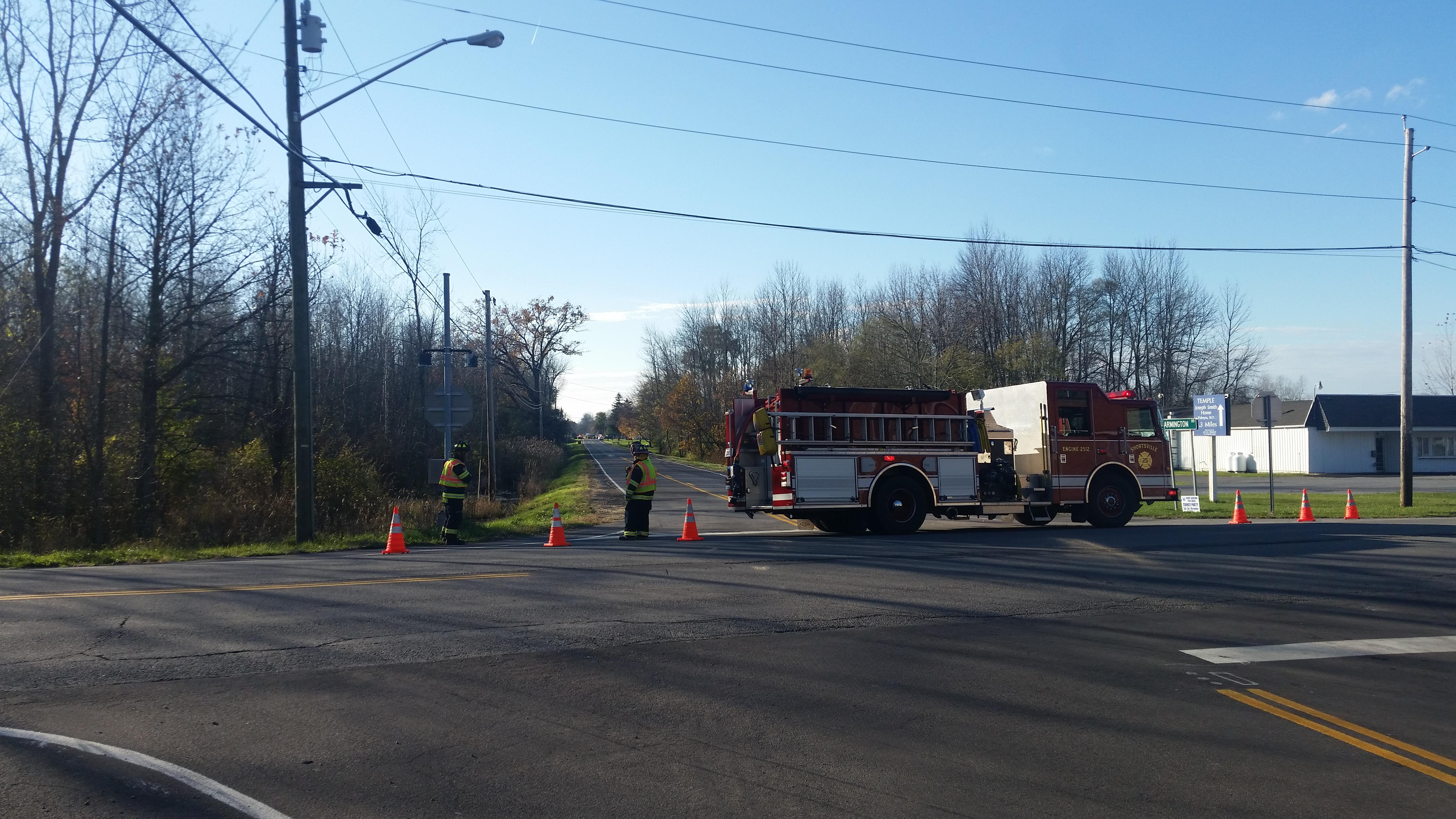 Emergency crews are on the scene of a serious crash in Manchester Thursday afternoon. (WHAM photo)