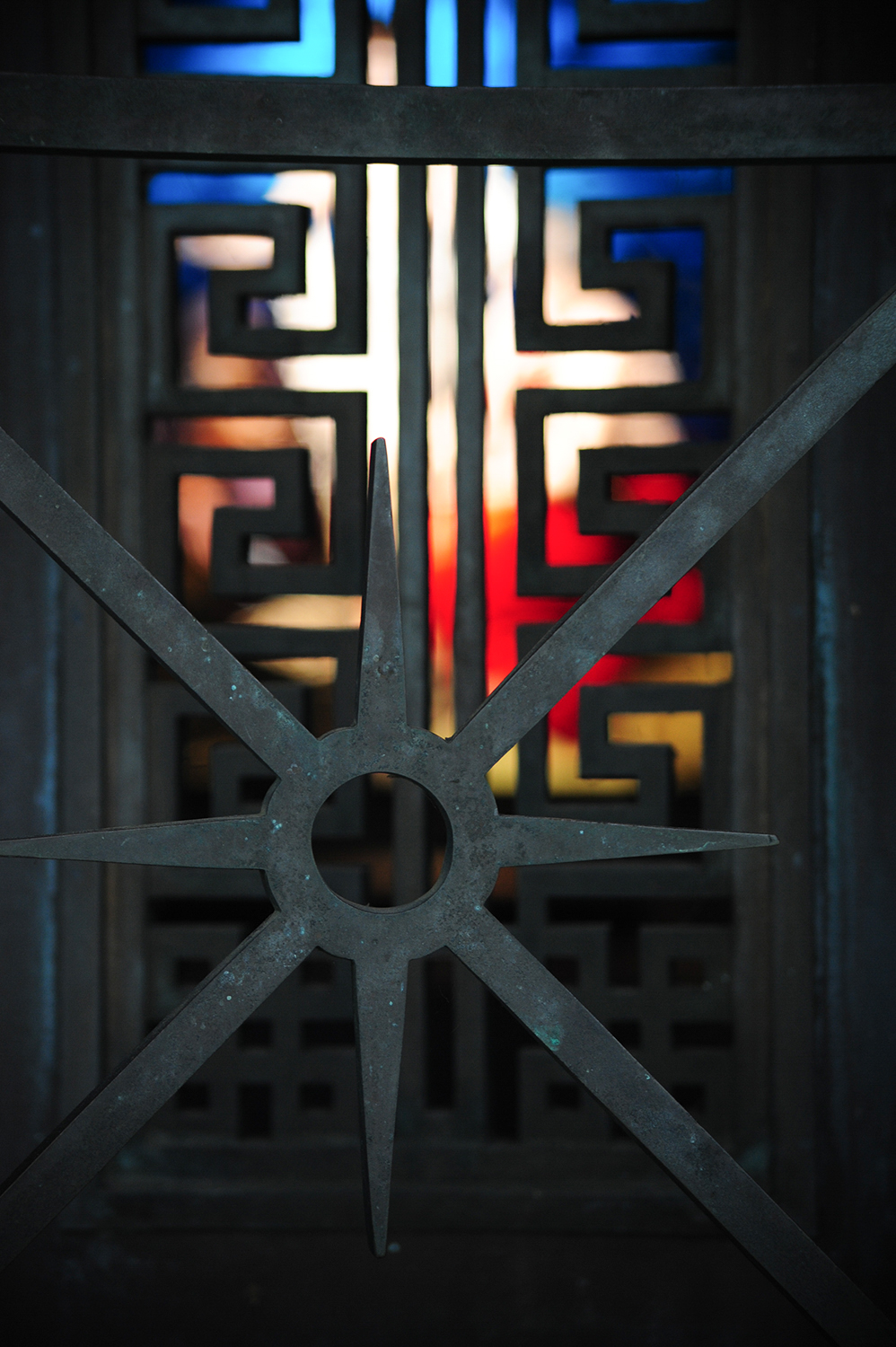 Intricate designs and stained glass in a mausoleum / Image: Melissa Doss Sliney