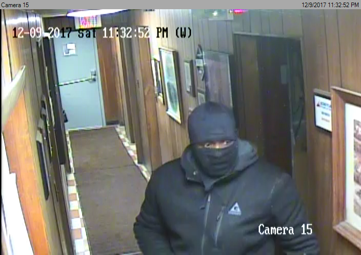 "Pictured is the suspect wanted in the Wiener Iron Co., robbery.{&amp;nbsp;}The suspect is described as a black male standing at  6'0 - 6'1"" and approximately 280 lbs. <p></p>"