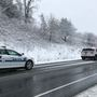 Police: Car slides off road on Rt. 501 near Timberlake Road, lane blocked