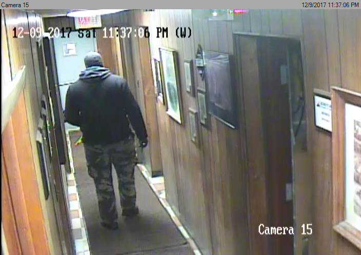 "Pictured is the suspect wanted in the Wiener Iron Co., robbery.{ }The suspect is described as a black male standing at  6'0 - 6'1"" and approximately 280 lbs."