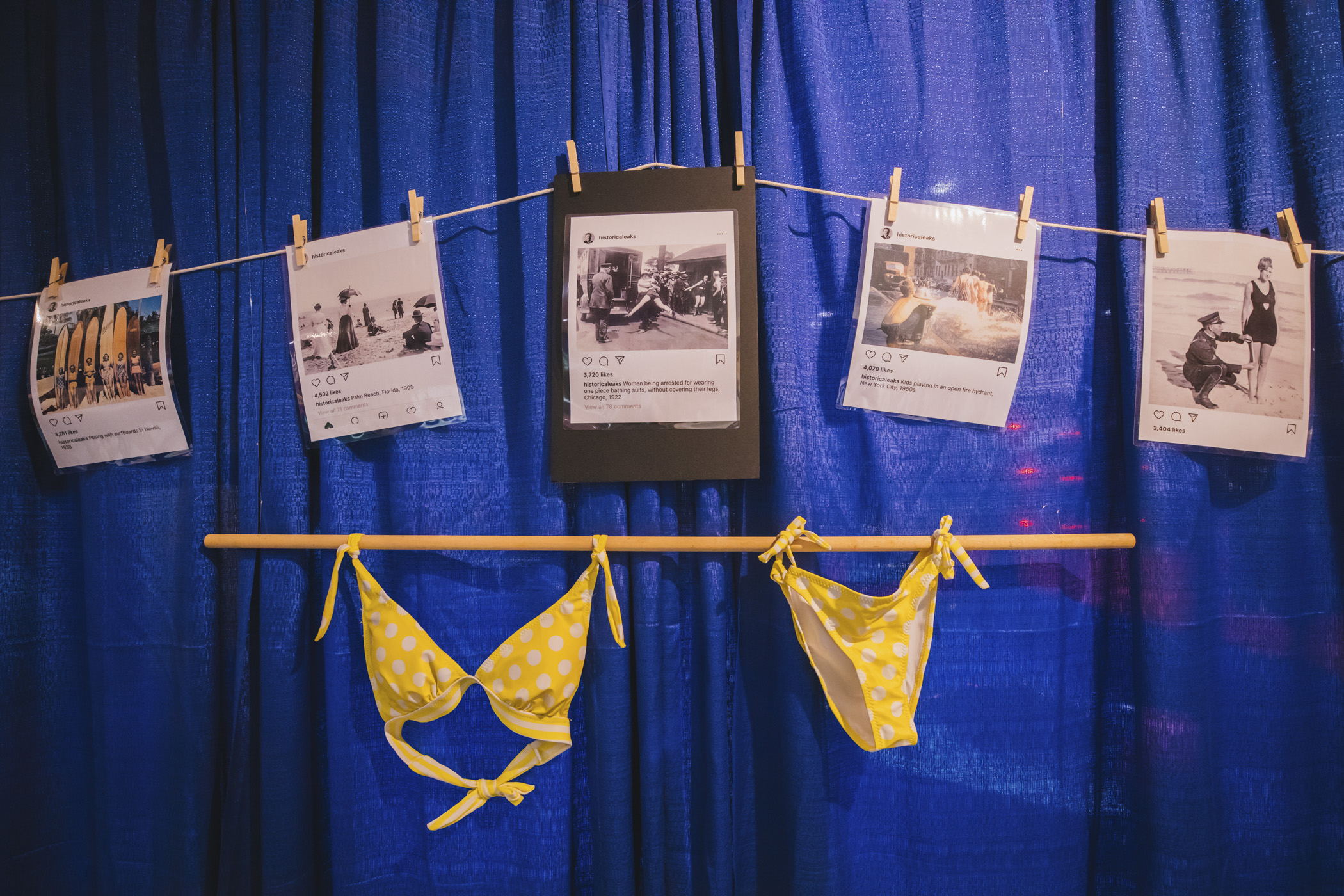"The 1960s and 70s ushered in an age of free love and the youth markets. Bikinis became more popular and smaller. One piece suits had higher cut legs and boys wore cutoff jeans or baggy trunk ""jams."" (Image: Sunita Martini / Seattle Refined)"
