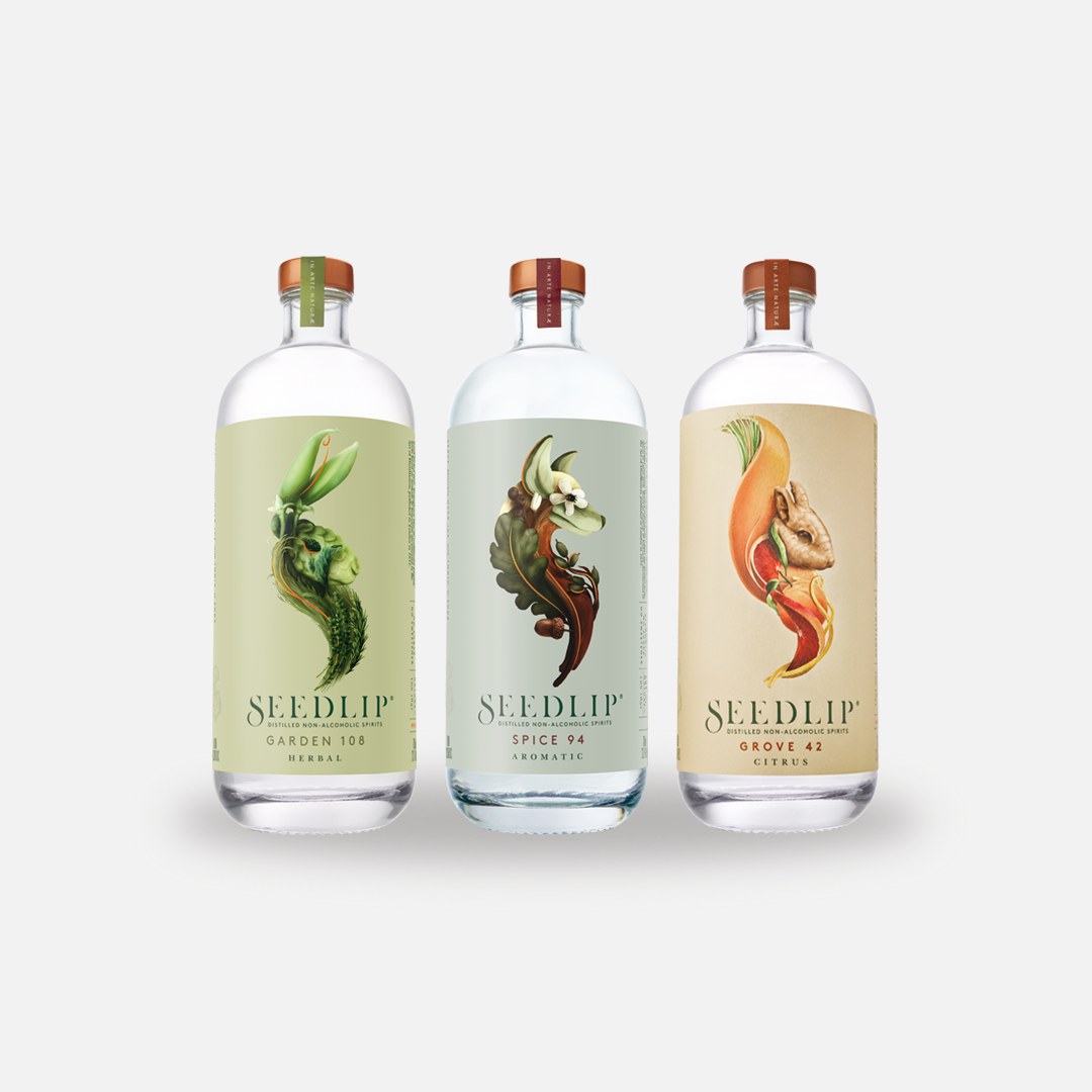 Thankfully, stateside sippers can get a taste of Seedlip, which offers a trio of botanical-laced, zero guilt spirits. (Image: Courtesy Seedlip)