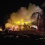 Barn goes up in flames in north Tulsa