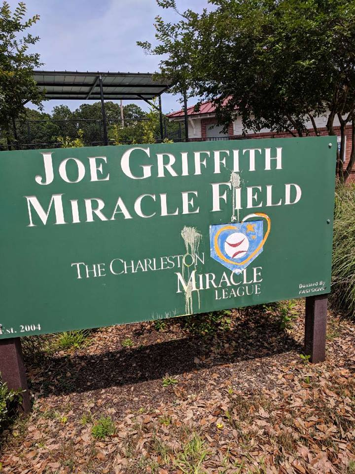 Charleston Miracle League vandalism (Provided, CML)