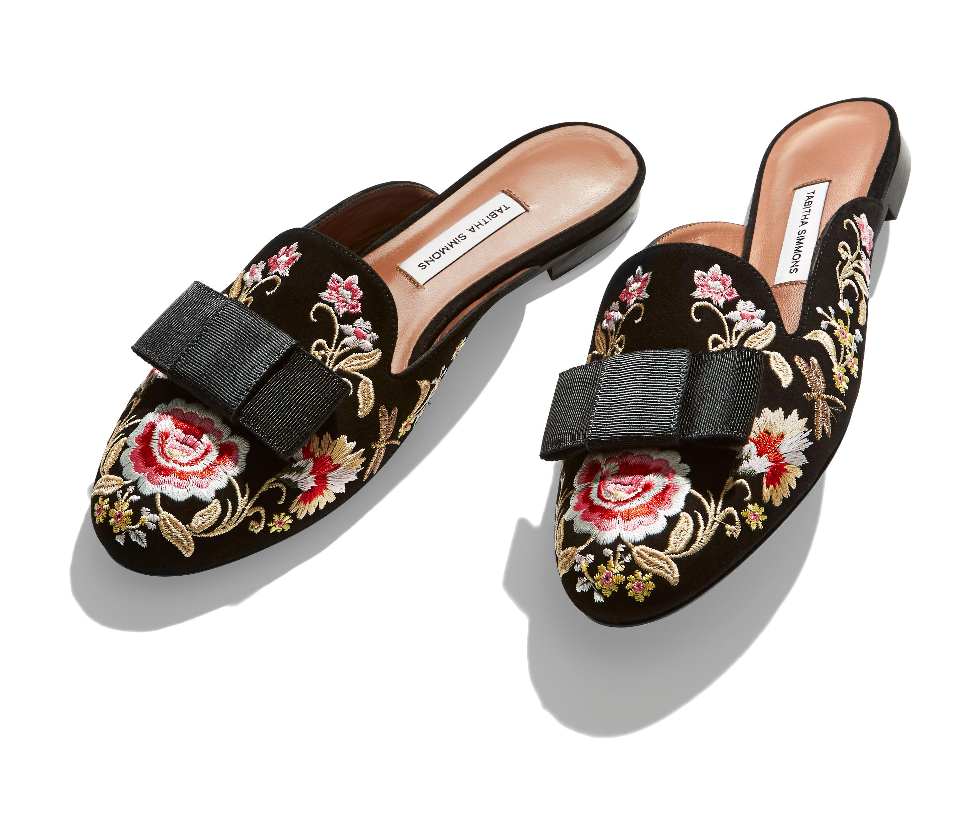 Tabitha Simmons Slippers $595 (Bloomingdales)<p></p>
