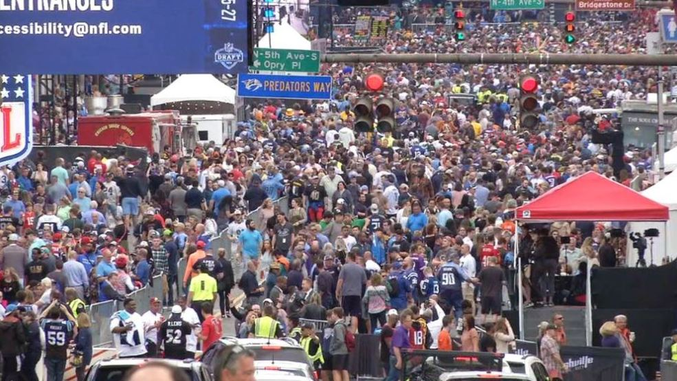 'Don't be afraid of the crowds' Sea of NFL Draft fans take pleasure in Music City - WZTV thumbnail