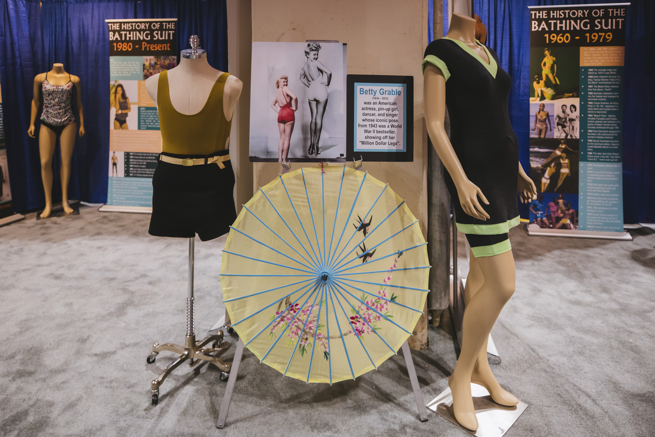 A typical bathing suit in the early 1900s was a one-piece, wool tank-style jumper that ended at the thigh and was tight enough to allow real movement in the water. Women stopped being arrested for showing their legs and shoulders at the beach and the emphasis shifted to actually swimming and sun tanning.{ }(Image: Sunita Martini / Seattle Refined)