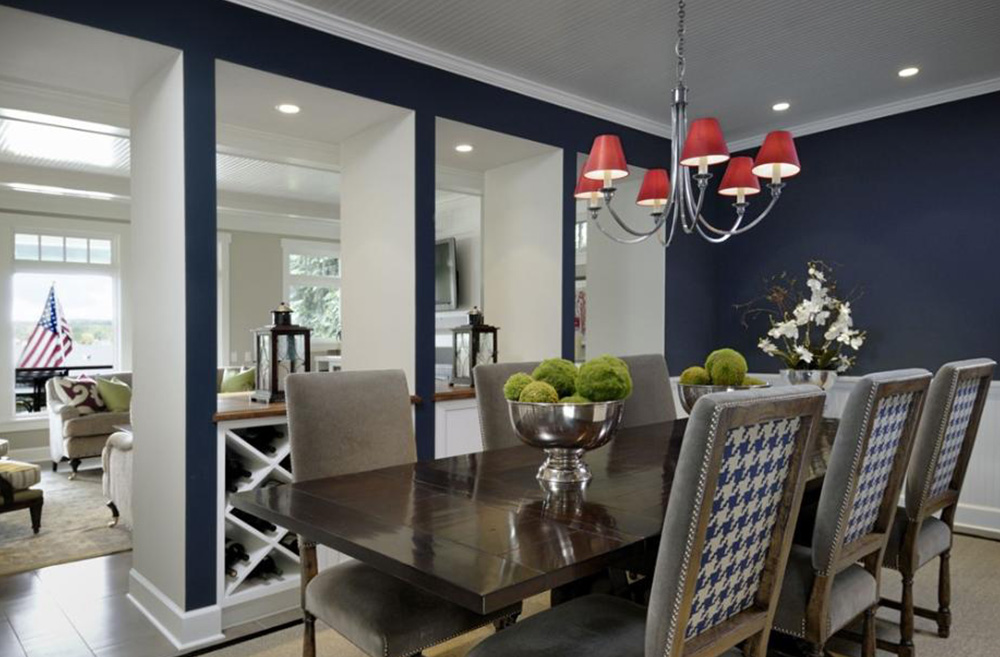 In honor of the 4th of July holiday, we bring you beautiful red, white and blue interiors from porch.com!