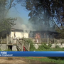 Fire destroys house in Gun Plain Township