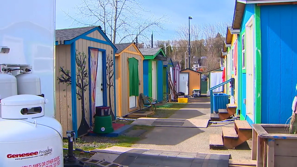 Tiny Home Encampment Residents May Go On Strike After Lockout Komo