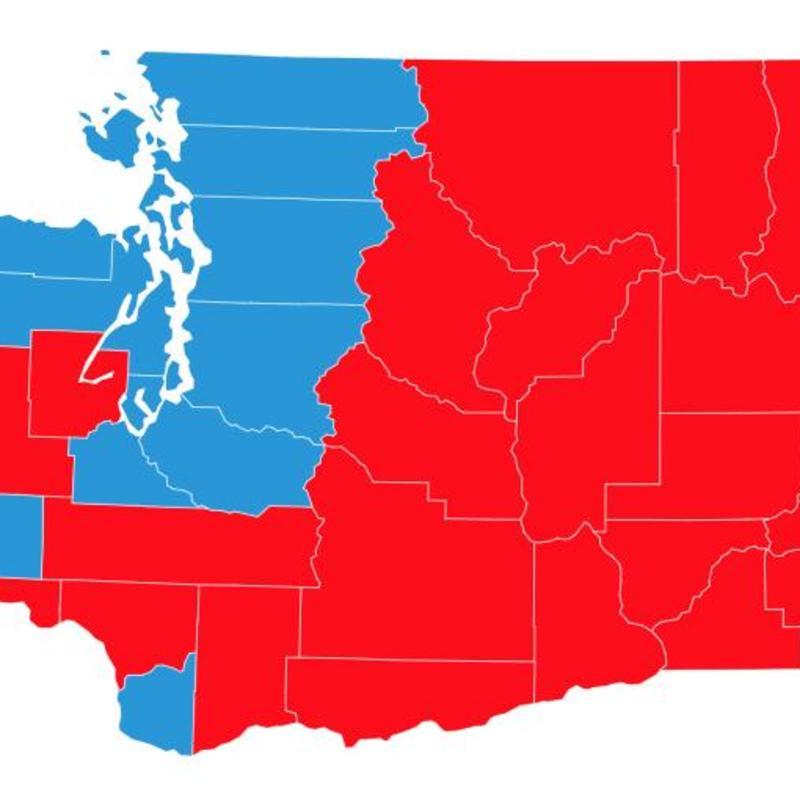 Washington State Political Map Washington state election results interactive map | KOMO